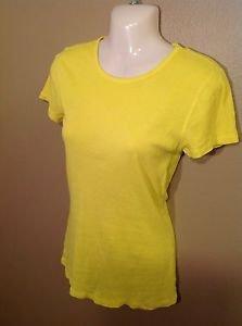 OLD NAVY Bright Yellow Medium Cotton Stretch T-Shirt