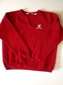 Wisconsin Badgers Womens XL Antigua Red Embroidered Fleece Pull Over Sweatshirt