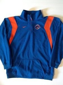 Nike Boise State Broncos Men's Large fleece Half Zip pullover Embroidered Hoodie