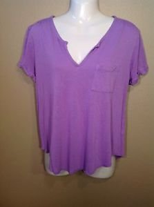 Gap xs Comfy loose yoga lounge Purple Lilac Short Sleeve Tunic shirt
