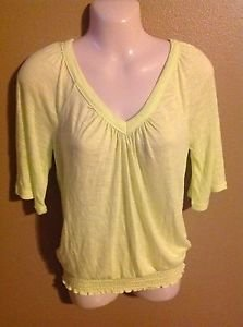 Mudd small bright lime green sheer light loose shirt