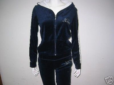Juicy Couture NEW 91 Velour Suit Navy XL Size