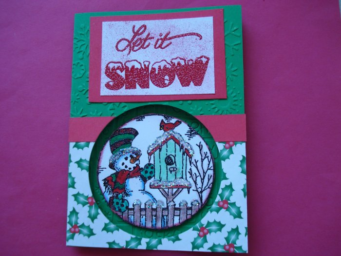 Snowman #3 Made with Cuttlebug Christmas Card