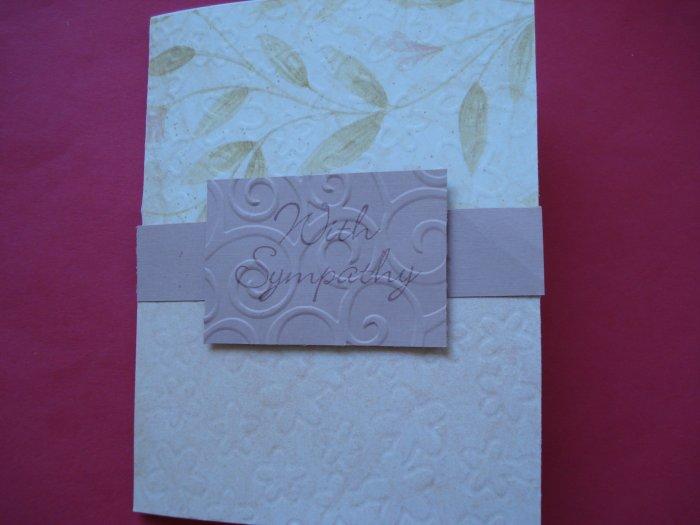Sympathy Card Made With Cuttlebug