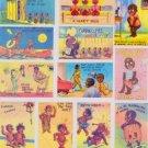 BLACK AMERICANA 40'S POSTCARD ART MAGNET SET-CARBON COPIES