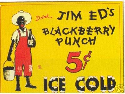 JIM ED'S BLACKBERRY PUNCH VINTAGE AD ART MAGNET