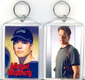 MICHAEL WEATHERLY JUMBO KEYCHAIN  STAR OF NCIS