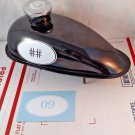 Motorized Bicycle Custom Gas Fuel Tank Vinyl Decal Race Racing Oval Sticker Choose Your Number