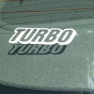 Turbo Vinyl Decal Car Window Laptop Bumper Sticker Glossy White Turbocharger Turbocharged Emblem