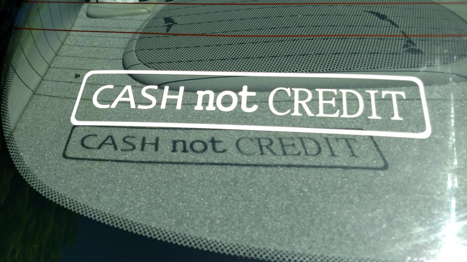 CASH not CREDIT Vinyl Car Window Bumper Sticker Decal Money Bought Tuner JDM Swag $