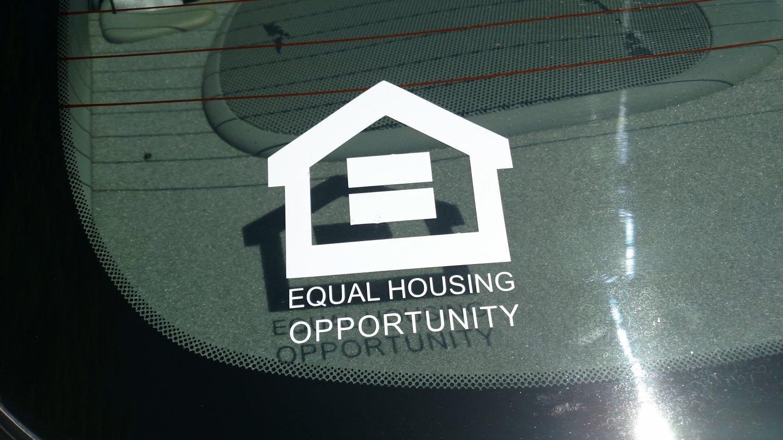 Equal Housing Opportunity Vinyl Car Window Bumper Sticker Decal Office Door Sign =