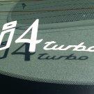 i4 Inline Four Turbo Vinyl Car Window Bumper Sticker Decal Laptop Turbocharger Turbocharged 4