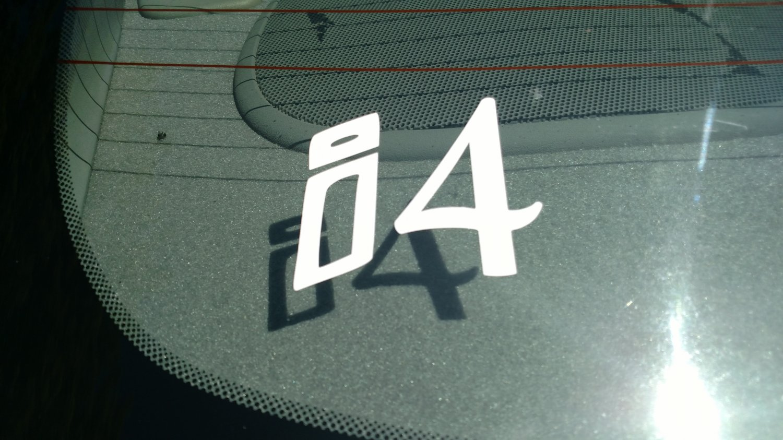 i4 Inline Four Engine Inside Vinyl Car Window Bumper Sticker Decal Laptop 4 Banger Car