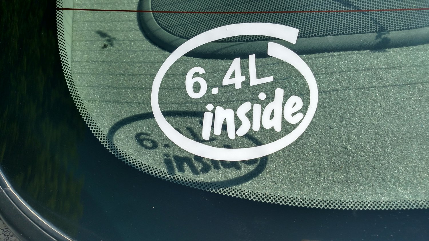 6.4L Inside Vinyl Car Window Bumper Sticker Decal Laptop 6.4 Ford Hemi Power Stroke Diesel