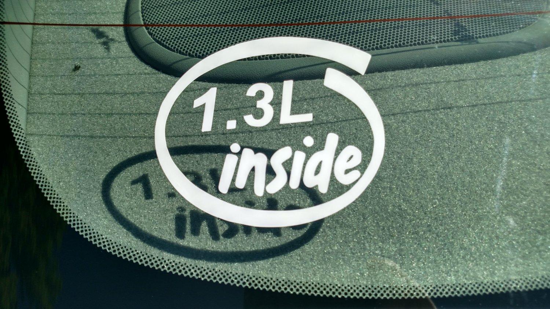 1.3L Inside Vinyl Car Window Bumper Sticker Decal Laptop 1.3 JTP Mazda Renesis Rotary