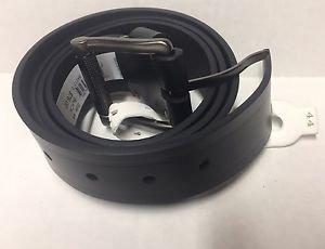 ROBERT GRAHAM ' Grassini Paisley-Loop ' Belt Black Genuine Leather Size 44 NWT