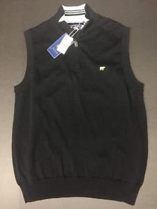 Jack Nicklaus Mens Golf Sweater 1/4 zip Herringbone Navy Size S  Bear Logo $60