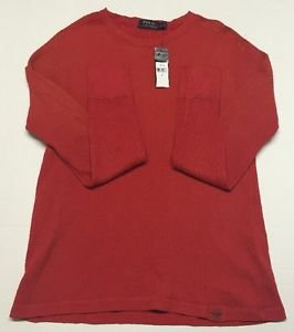 Polo Ralph Lauren Waffle Knit Thermal - Red Beret - Large $98 NWT