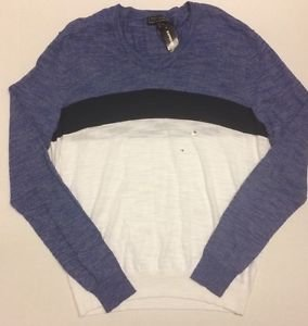 Express Mens - Multicolor Striped V Neck Sweater -  XL/Small NWT