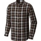 Columbia Mens Big Cornell Woods Flannel Long Sleeve Shirt, Black/Multi Plaid, 3X