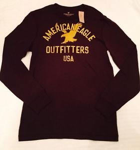 American Eagle Outfitters - Classic Fit Long Sleeve Maroon Mens Size M NWT