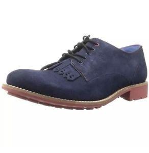 Ted Baker 8415 Mens Tich 2 Navy Suede Derby Shoes Oxford 9 Medium (D) NIB