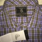 MAKER & COMPANY - MULTI COLORED Plaid Dress Shirt 2XLT Big/Tall Button Down L/S