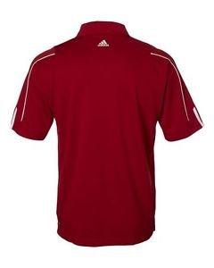 ADIDAS - GOLF a76 Climalite Mens Size S-Three Stripes Polo Sport Shirt NWT
