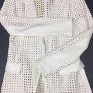 Versace - Giacca Pelle Donna Cream Jacket/Blazer Size 46 $2700 NWT