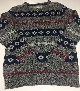O'Hanlon Mills Anthropologie Men Multi Color  Cotton/Wool/Nylon Sweater XS NWOT