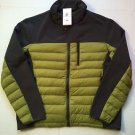 Hawke & Co Hybrid Down/Fleece Jacket Mens XL Solid Gray/Charcoal/Green $195 NWT