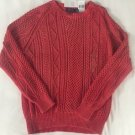 POLO RALPH LAUREN SWEATER CORAL FISHERMAN CABLE 100% COTTON SZ Medium NWT $265