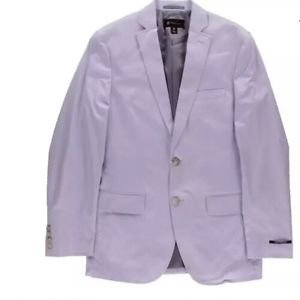 INC Mens London Purple Solid Regular Fit Two-Button Blazer Jacket Small