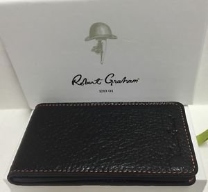 ROBERT GRAHAM Leather Black Apple iPhone 5 5S 5SE Wallet Case Credit Card ID $88