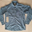 Mountain Khakis Granite Creek LS Camping/Fishing Shirt,Blue,Small NWT Nylon/Poly