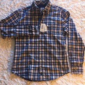 Johnnie-O (Wright) Button-Down Shirt JMWL1800- 495 Niagara Size Small NWT $125