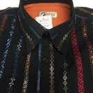 ROAD Apparel-Embroidered Poplin Mens Shirt Large $128 NWT -Limited Edition
