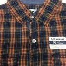 Lee - Mens Casual Button Down Shirt Multicolor Plaid Medium NWT