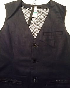 Mondo DI Marco - Mens Black End On End Vest - Jeans Fabric-  XL $98