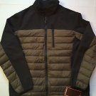 Hawke & Co Hybrid Down & Fleece Jacket Mens Large Black/goldTaupe- $195 NWT
