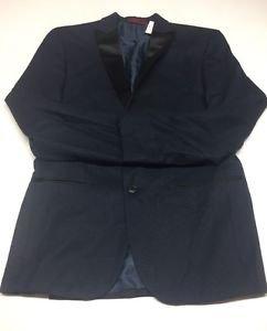 Alfani Mens Navy Textured Slim Fit Lined Sportcoat Blazer 38R $250 MSRP