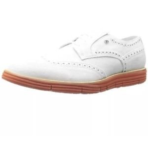 Dino Bigioni - Mens Gray Suede Brogue Oxfords Shoes 8 Medium (D) $350 Retail