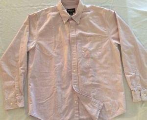 Eddie Bauer- Striped Button Down Shirt Dress/Casual Size Medium. L/Sleeve Cotton
