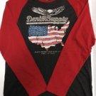 Denim & Supply Ralph Lauren Americana Baseball XXL T-Shirt Red/Gray L/Sleeve