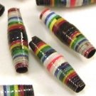 Paper Beads - 11 Small - Color Stripes