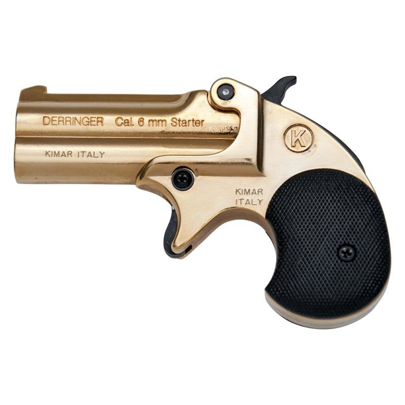BLANK FIRING GUN DERRINGER KIMAR OLD WEST REPLICA .22 CALIBER GOLD FINISH