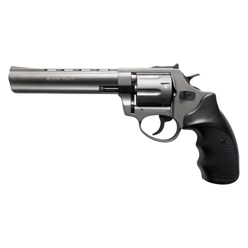 BLANK FIRING REVOLVER GUN VIPER 6 INCH BARREL 9MM FUME FINISH
