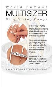 10 Pcs USA Multisizer 1-17 including ½ sizes Ring Sizing Gauge for Men & Women