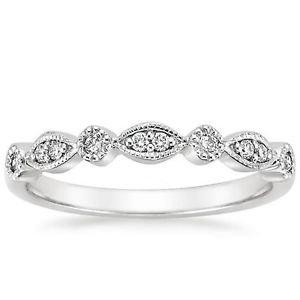 Round Brilliant Cut Natural Diamond Half Eternity Wedding Band Solid White Gold