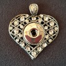 Heart Shaped with Rhinestones